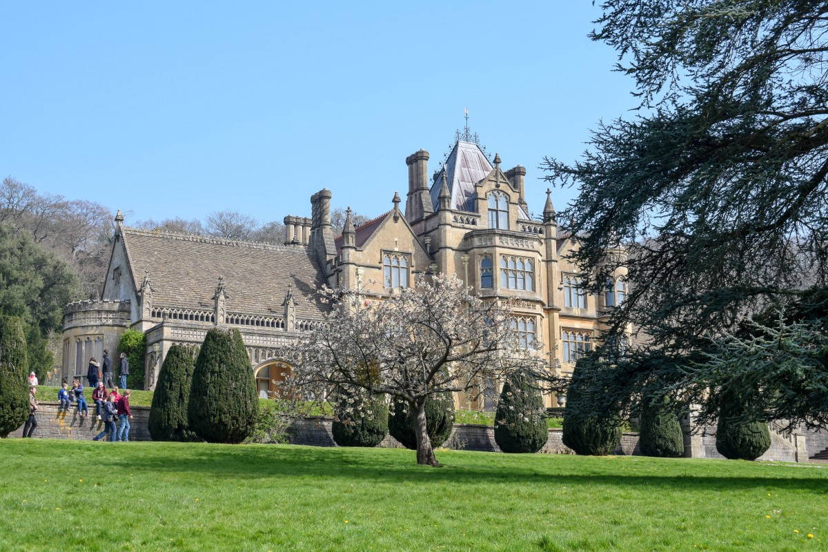 Blossom at Tyntesfield house in spring