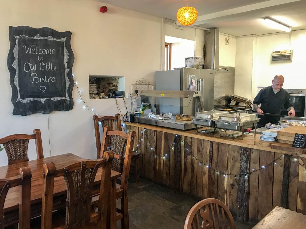 Woodlands Bistro Tondu restaurant Wales