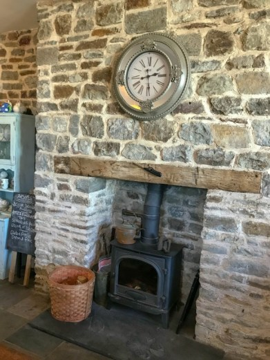 Woodlands Bistro Tondu restaurant fireplace