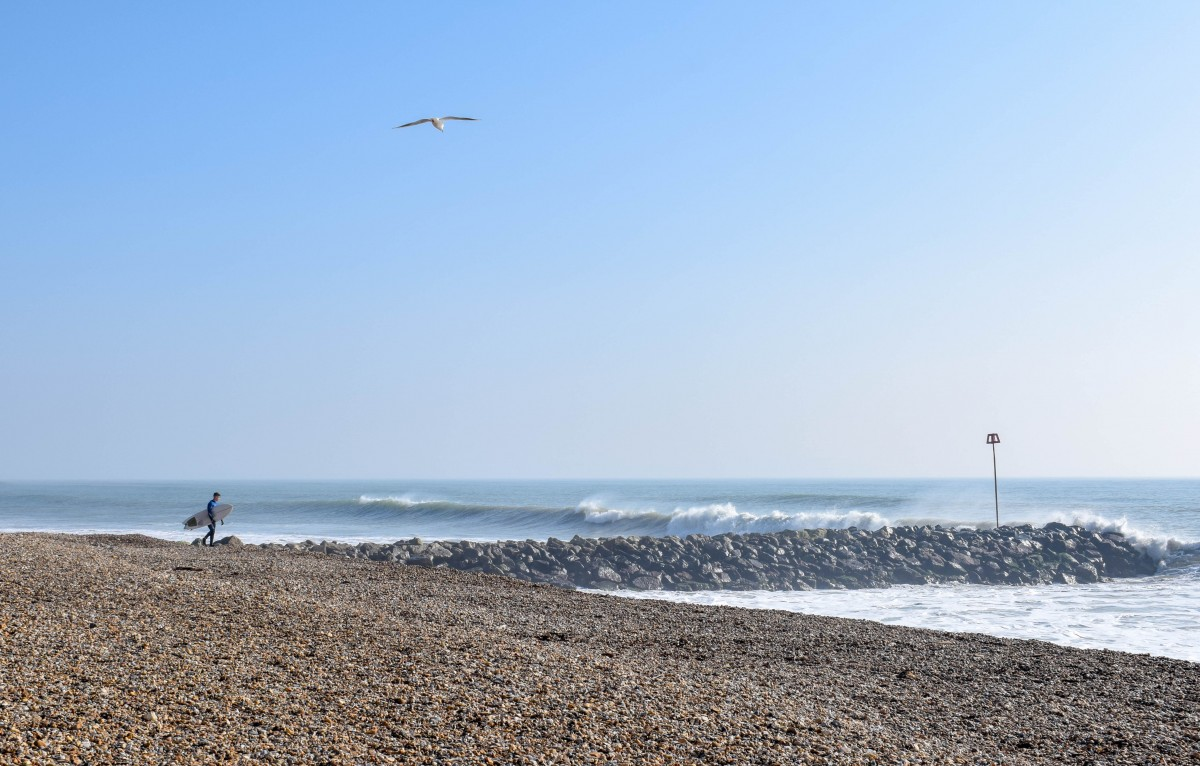 surfer highcliffe on sea new forest