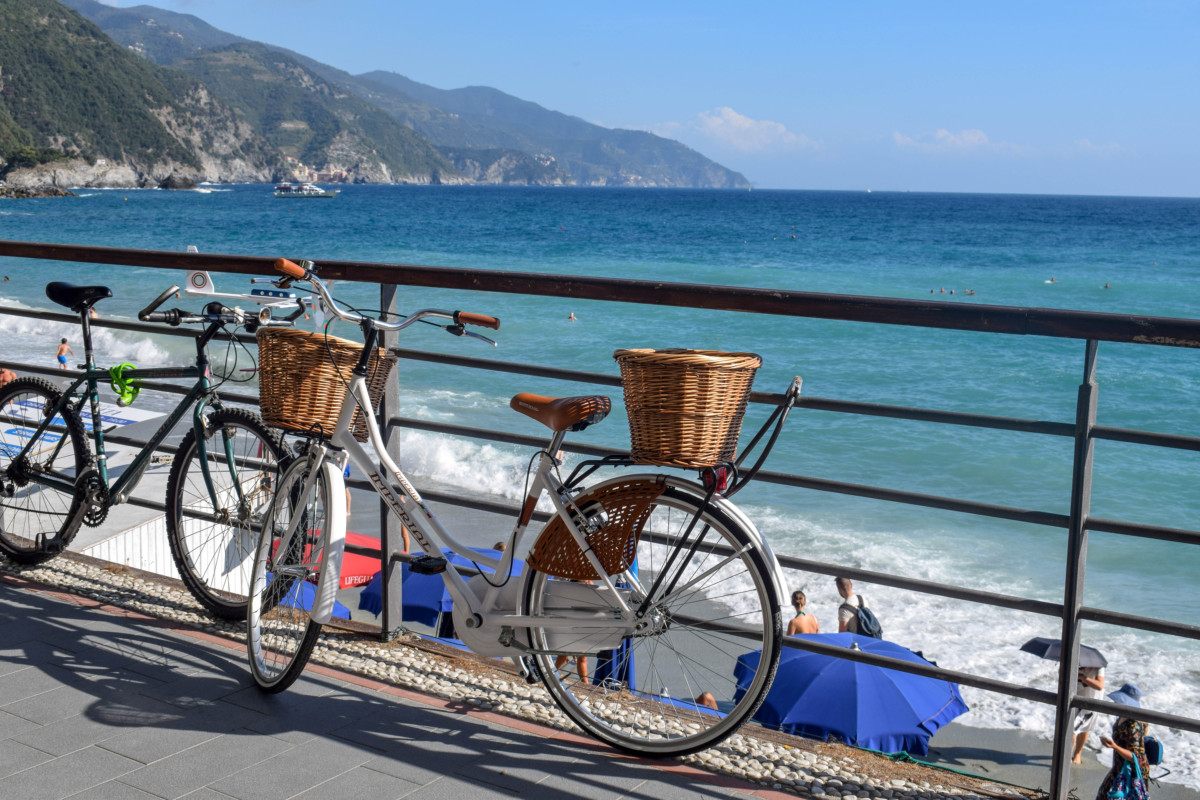 Monterosso bikes Cinque Terre Italy