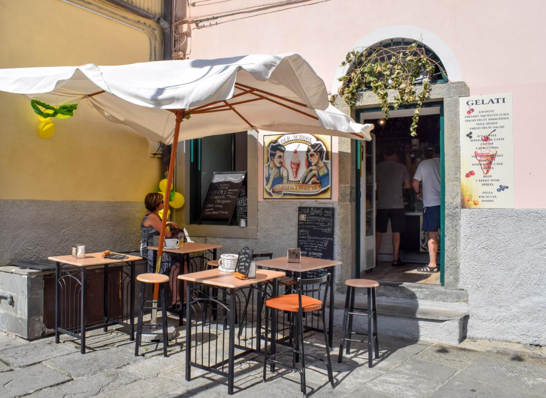 Riomaggiore gelato shop Cinque Terre Italy