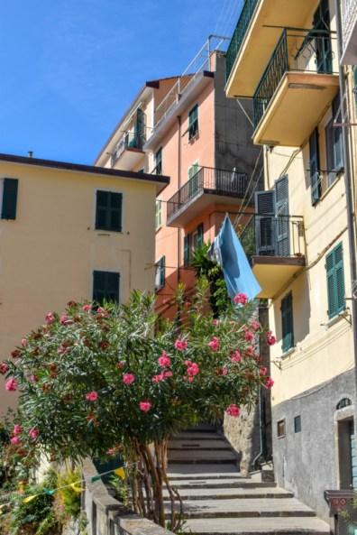 Riomaggiore streets Cinque Terre Italy
