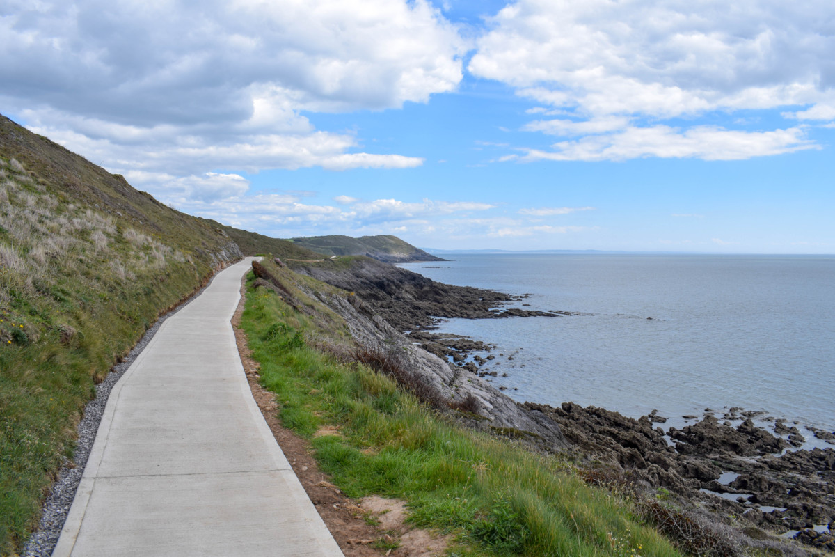 Gower hikes Wales Caswell Bay to Langland Bay