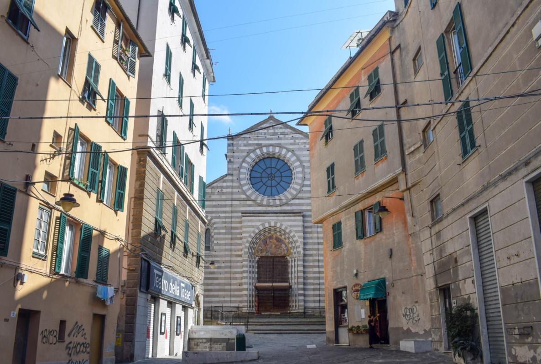 Genoa Italy Old City church
