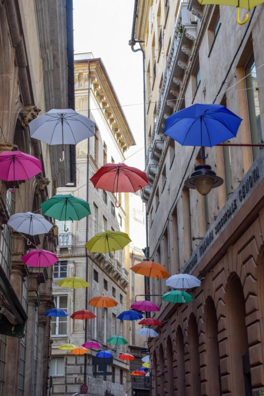 Genoa umbrellas Italy