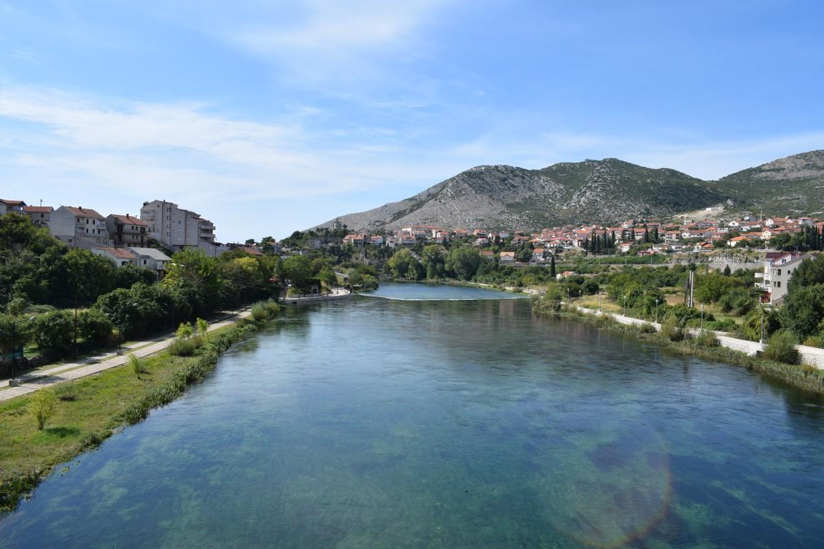 View from Arslanagica Bridge Trebinje Bosnia and Herzogovina