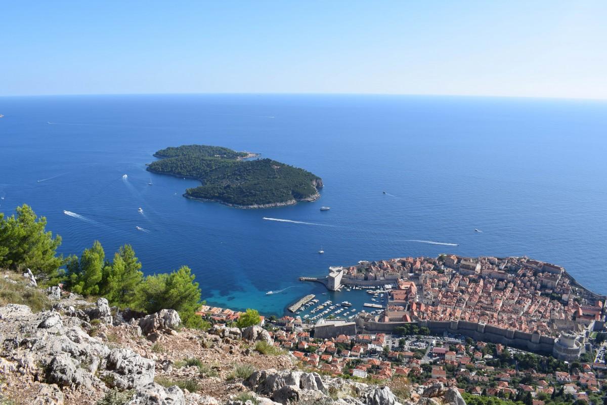 Views from Mount Srd Dubrovnik in Croatia