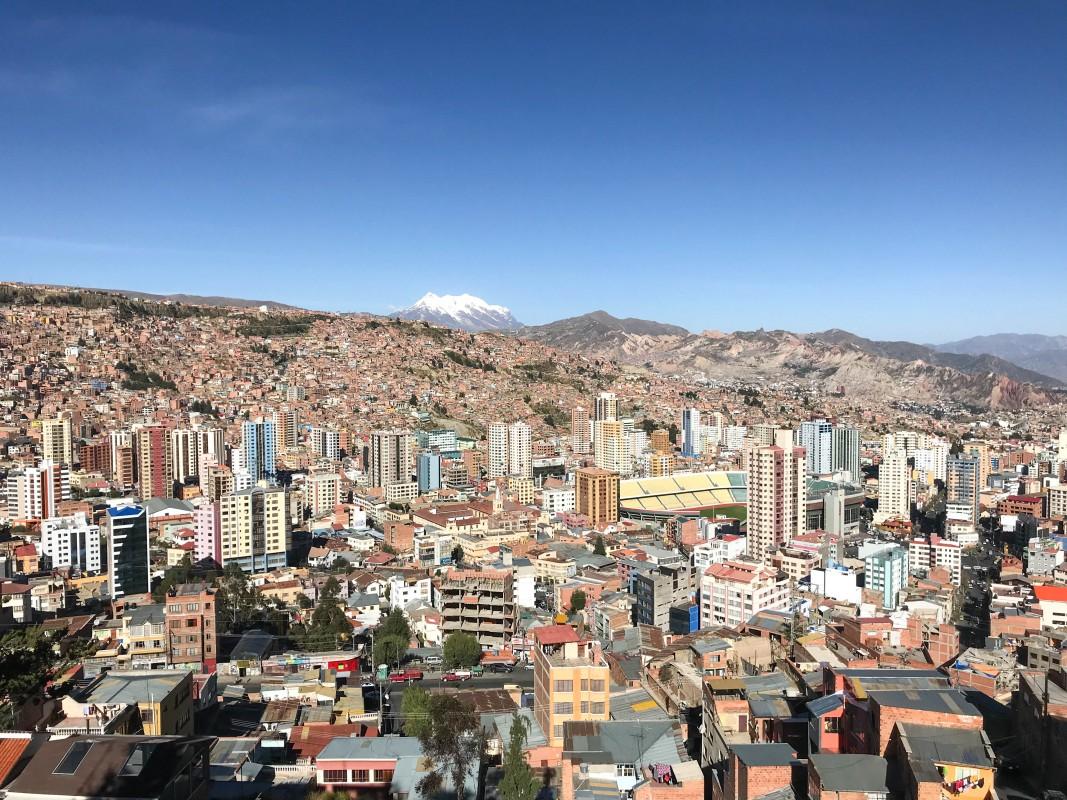 View from Mirador Killi Killi in La Paz Bolivia