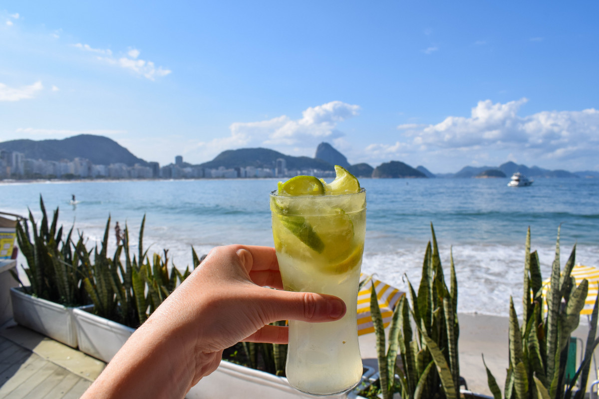 Caipirinha cocktail Copacabana beach rio de janeiro brazil