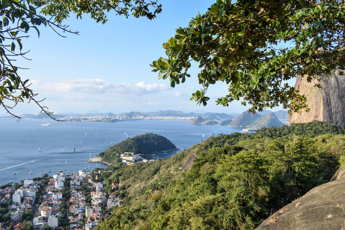 View from Morro da Urca Rio de Janeiro Brazil