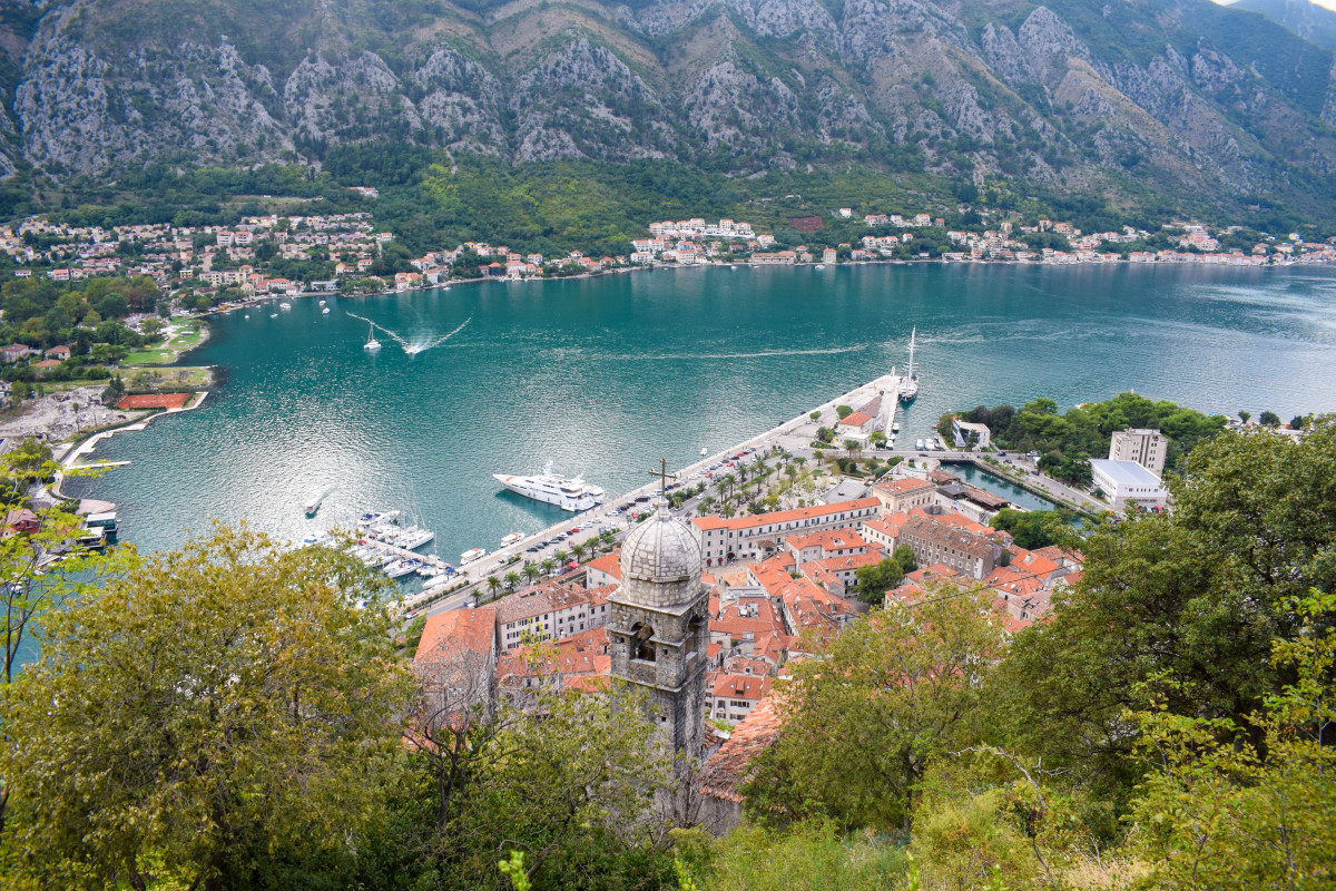 Kotor fortress hike Montenegro views
