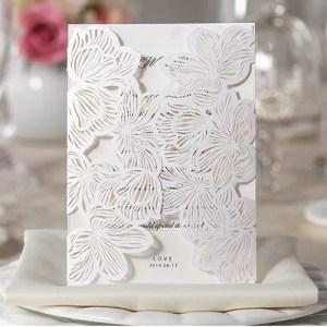 invito nozze bianco Elegante Con Astuccio Piegato