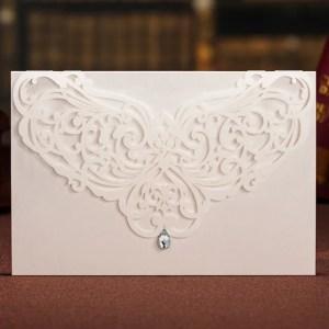 partecipazioni matrimonio laser bianca con goccia