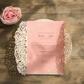 9_Partecipazione bianca e cartoncino rosa
