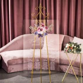 Cartelli Plexiglass tableau de mariage YK030