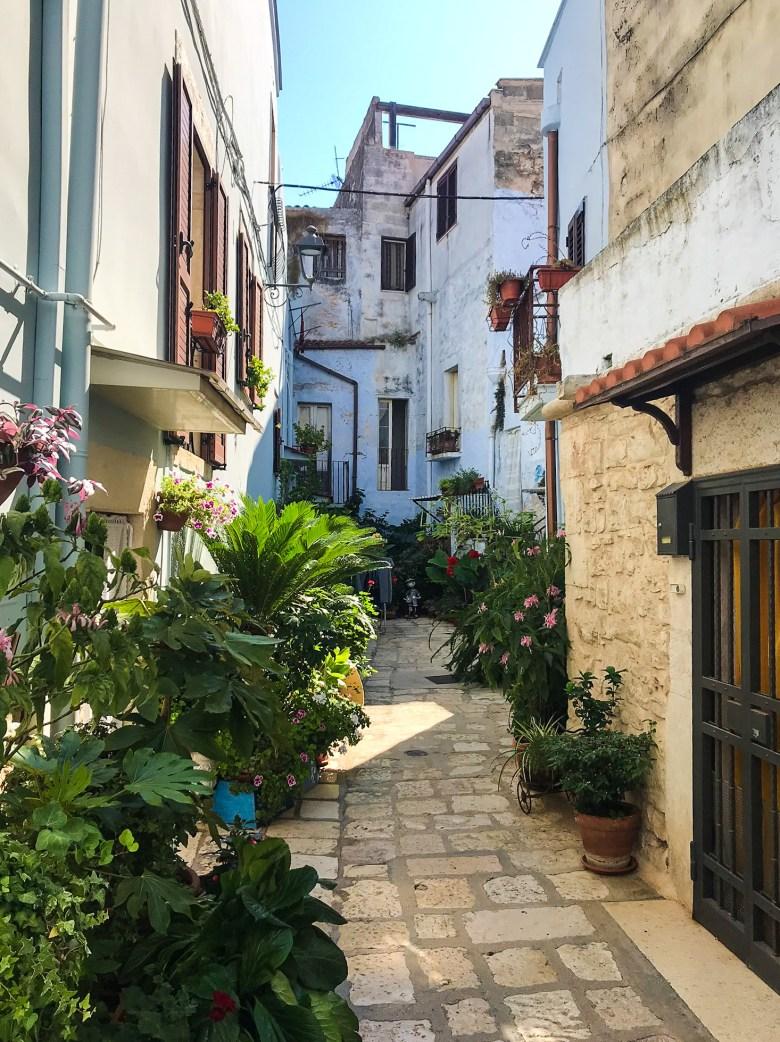 """Vicolo del """"balcone fiorito"""", Casamassima, il Paese Azzurro"""