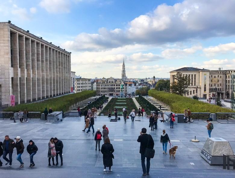 Giardini del Mont des Arts, Bruxelles