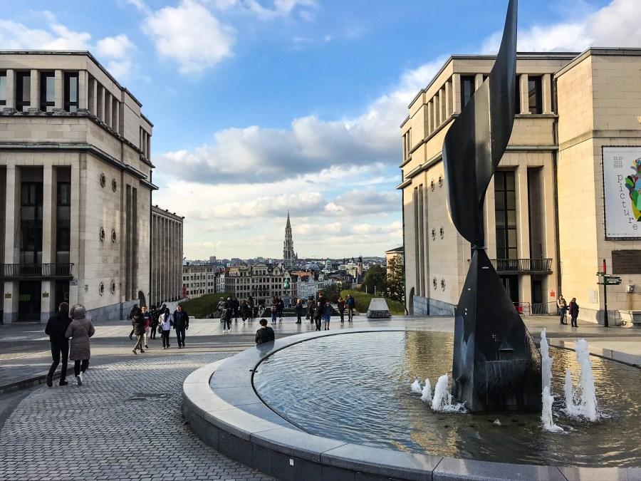 Panorama dal Mont des Art, Bruxelles - Belgio