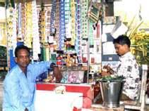 Pan-Gutka Shop in India who also sell Vouchers