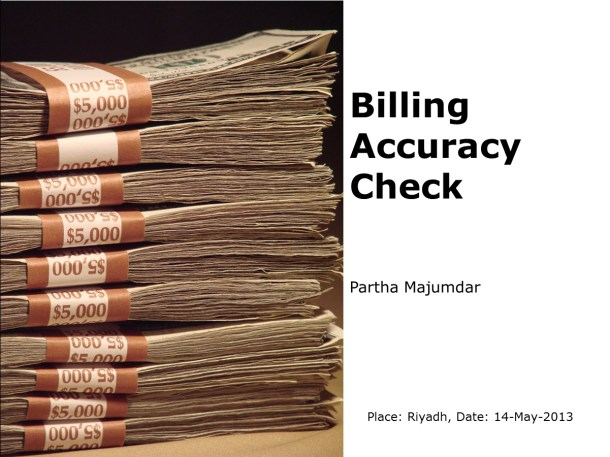 Billing Accuracy Check - Slide 1