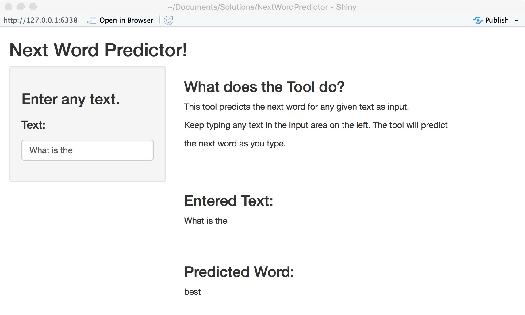 Next Word Predictor