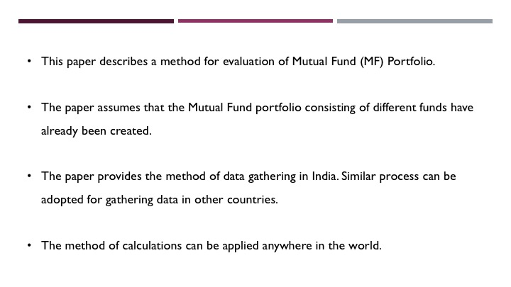 Evaluating a Mutual Fund Portfolio - Slide 2