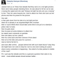 Jasleen Kaur was not harassed, she is telling lies