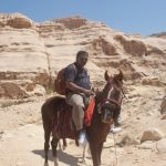 Partha on a horse in Petra