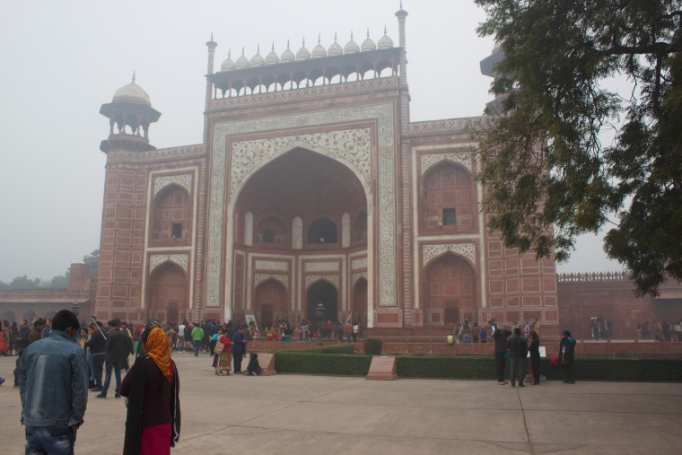 The Entrance to Taj Mahal