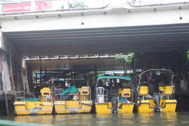 Motor Boats in the Canal. These Boats are used by the residents to reach the nearest point in the City.