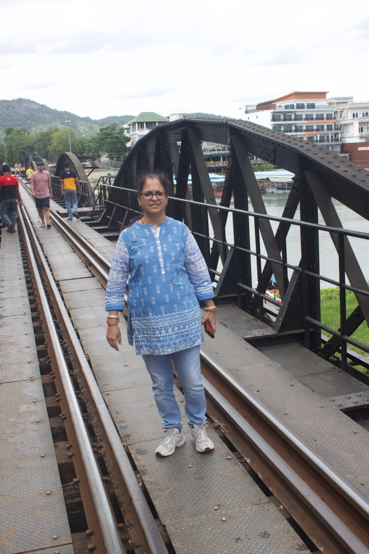 On the Tracks on the Death Railways. The River below is River Kwai