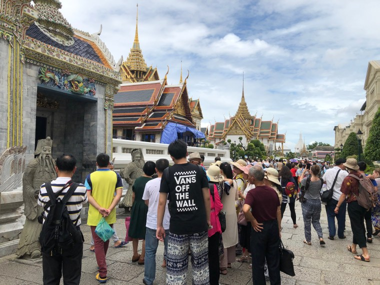 Outside the Temple of Emerald Buddha