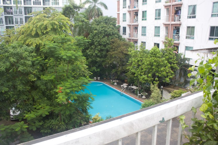 The Swimming Pool from the Terrace in front of Room 404