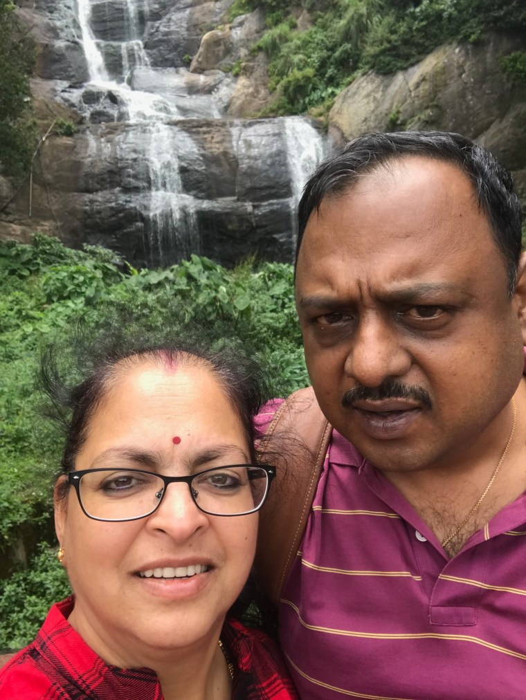 Our Selfie at Silver Cascade Falls