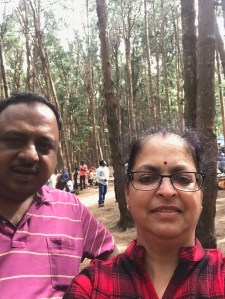 Deepshree clicked our Selfie at Pine Forest