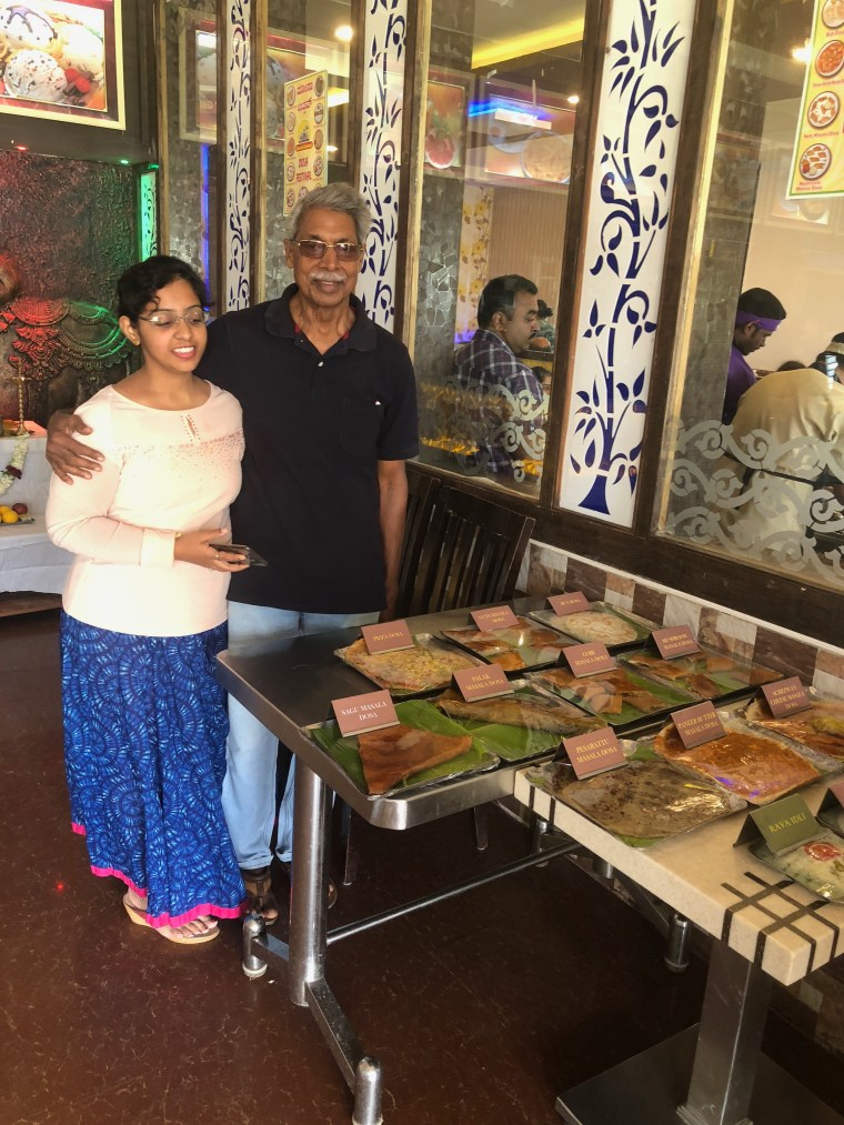 Samples of Dosa from the Dosa Festival at Nandi Grand