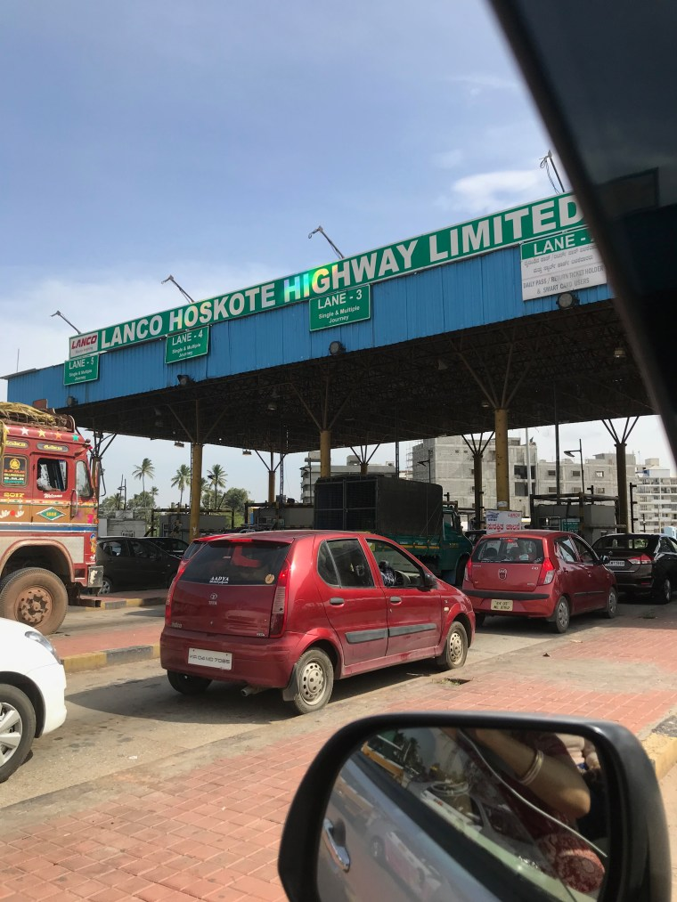 Toll Gate near Hoskote