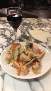 Having Prawns with Red Wine