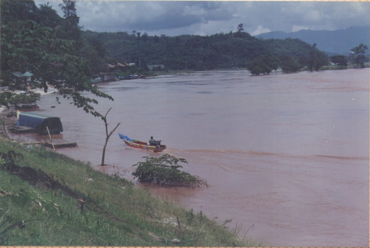 Mekong River. The Water was blood red
