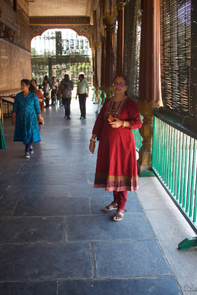In the corridor of the Tipu Sultan Summer Palace