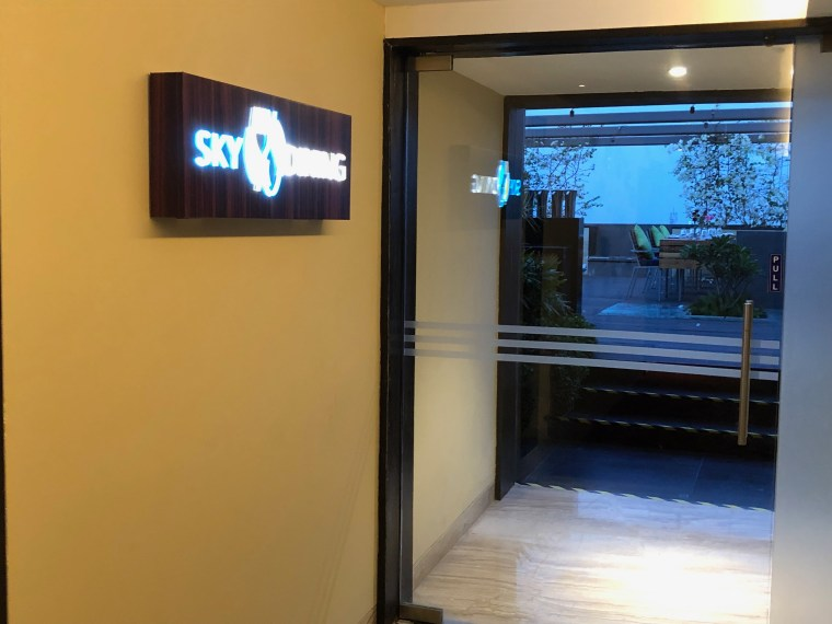 Entrance to Sky Lounge