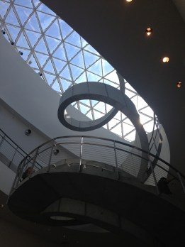 Awesome staircase inside the museum