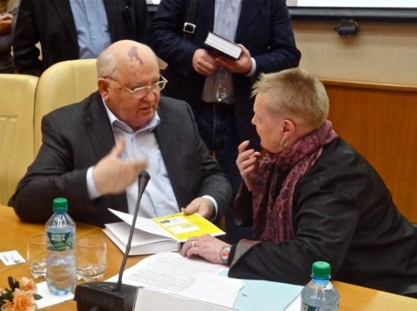 Mr. Mikhail Gorbachevand Dr. Claudia Mitchell