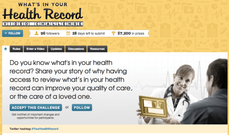 Home page of YourRecord.Challenge.Gov