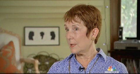 Screen capture of Peggy Zuckerman on NBC Nightly News