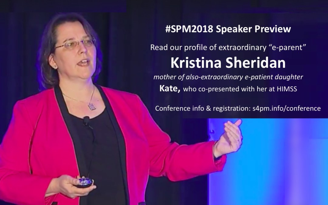#SPM2018 speaker Kristina Sheridan: Leveraging the data of patients' stories