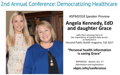 "#SPM2018 speakers @_AngelaKennedy and daughter Grace: ""Personal Health Information is Saving Grace"""