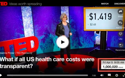 A million views in 44 days! ClearHealthCosts price transparency TED Talk goes viral