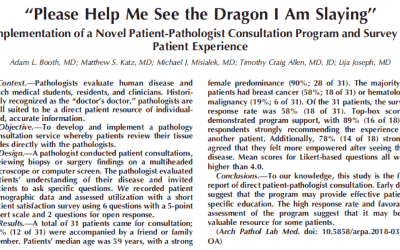 """Help me see the dragon I'm slaying"": pathologists meeting directly with patients"